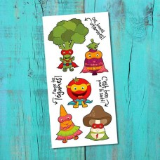 Pico Tatoo - Tatouage pour enfants - La Récréation - Les super légumes