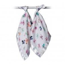 Lulujo - Mousseline de coton - Couverture de sécurité - Paquet de 2 - Papillons