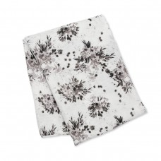 Lulujo - Mousseline de bamboo - Collection Moderne - Black floral