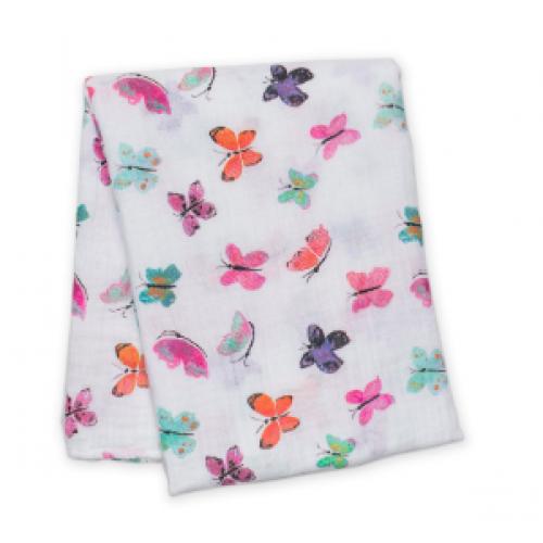 Lulujo - Mousseline de coton - Papillons