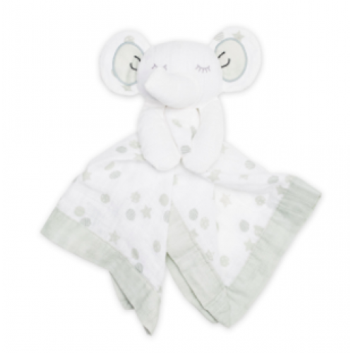 Lulujo - Mousseline Lovie - Éléphant gris