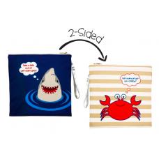 FlapJackKids - Sac imperméable réversible - Requin / Crabe