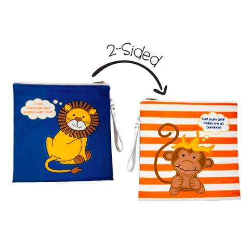 FlapJackKids - Sac imperméable réversible - Lion / Singe