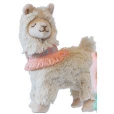 "Mary Meyer - Collection Lexi Lama - Peluche 6"" collette rose"