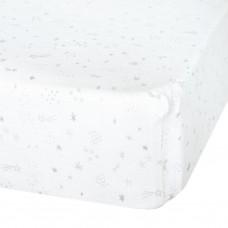 Perlimpinpin - Drap-housse contour en mousseline de coton pour lit de bébé - Étoiles