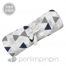 Perlimpinpin - Couverture mousseline de coton - Triangles