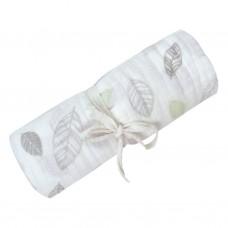 Perlimpinpin - Couverture mousseline de coton - Feuilles
