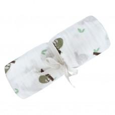 Perlimpinpin - Couverture mousseline de coton - Paresseux