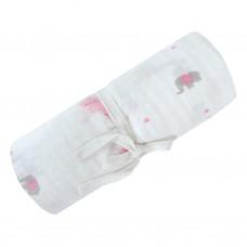 Perlimpinpin - Couverture mousseline de coton - Safari Rose