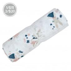 Perlimpinpin - Couverture mousseline de coton - Lapines