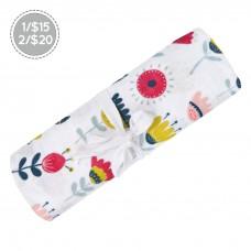 Perlimpinpin - Couverture mousseline de coton - Fleurs