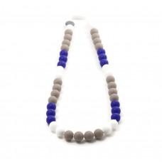 Bulle Bijouterie - Collier de dentition en silicone pour mamans - Tricolore Minuit
