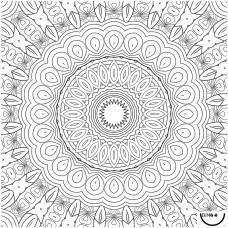 Bimoo - Nappe à colorier multilingue - Le Mandala