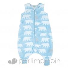 Perlimpinpin - Sac de nuit en peluche pour enfant - Ours polaire