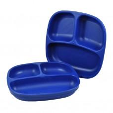 Re-Play - Assiette divisée de 7 po en plastique recyclé - Bleu Marine
