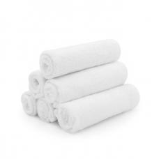 Kushies - Débarbouillettes de bambou - Paquet de 6 - Blanc