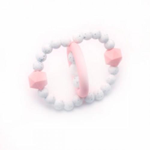Bulle Bijouterie - Jouet de dentition Orbite Vieux rose