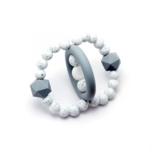 Bulle Bijouterie - Jouet de dentition Orbite Gris pâle