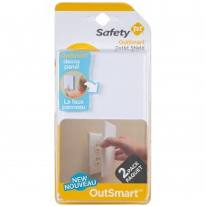 Safety 1st - Cache-Prise Outsmart - Paquet de 2
