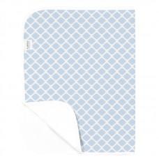 Kushies - Piqué imperméable - Treillis bleu