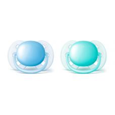 Philips Avent - Suce Ultra Douce - 0 à 6 mois - Bleu et sarcelle