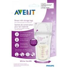 Philips Avent - Sacs de stockage de lait maternel - Emballage de 25
