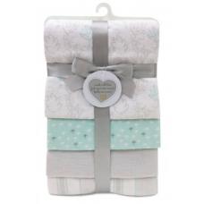 Piccolo Bambino - 4 couvertures de flanelle - Gris