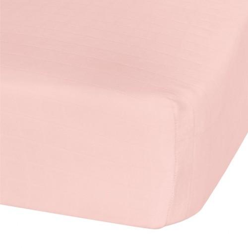 Perlimpinpin - Drap-housse contour en mousseline de coton - Rose