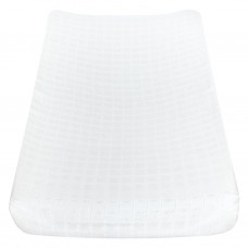Perlimpinpin - Drap-housse contour en mousseline pour matelas à langer  arqué - Blanc