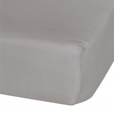 Perlimpinpin - Drap-housse contour en mousseline de coton - Taupe