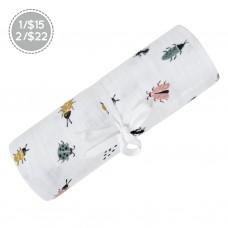 Perlimpinpin - Couverture mousseline de coton - Insectes