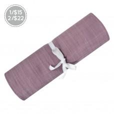 Perlimpinpin - Couverture mousseline de coton - Prune