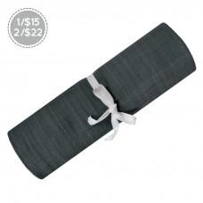 Perlimpinpin - Couverture mousseline de coton - Gris charcoal