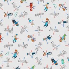 Bimoo - Nappe à colorier multilingue - Les Professions