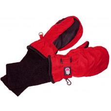 SnowStoppers - Mitaines imperméables avec long poignet - Rouge