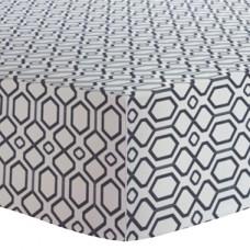 Kushies - Drap contour pour matelas de lit de bébé - Octogone Marine