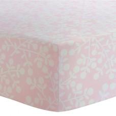 Kushies - Drap contour pour matelas de lit de bébé - Baies Roses