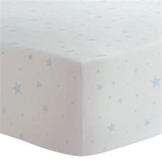 Kushies - Drap contour pour matelas de lit de bébé - Étoiles Bleues
