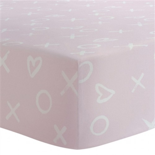 Kushies - Drap contour en flanelle pour matelas de lit de bébé - XO Rose