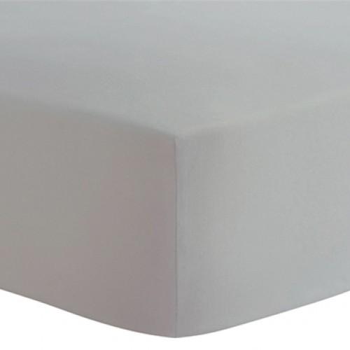 Kushies - Drap contour en flanelle pour matelas de lit de bébé - Gris