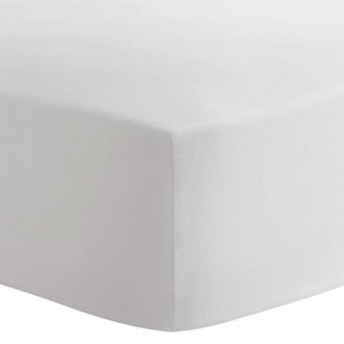 Kushies - Drap contour en flanelle pour matelas de lit de bébé - Blanc