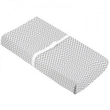 Kushies - Drap contour en flanelle pour matelas à langer arqué - Chevron gris