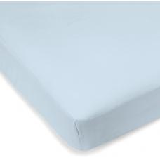 Kushies - Drap contour en percale pour matelas de lit de bébé - Bleu