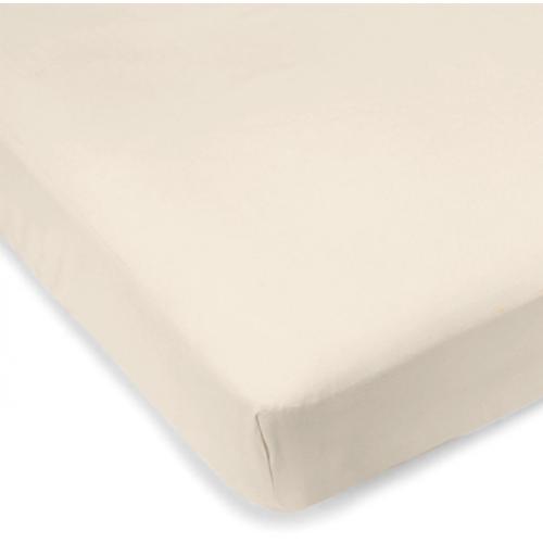Kushies - Drap contour en percale pour matelas de lit de bébé - Naturel