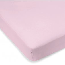 Kushies - Drap contour en percale pour matelas de lit de bébé - Rose