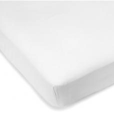 Kushies - Drap contour en percale pour matelas de lit de bébé - Blanc