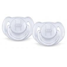 Philips Avent - Suce Classique Translucide - 6 à 18 mois - Blanc et blanc