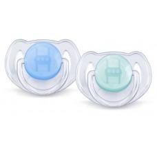Philips Avent - Suce Classique Translucide - 6 à 18 mois - Bleu et Sarcelle