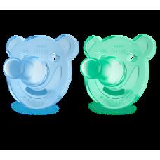 Philips Avent - Suce d'hôpital - 0 à 3 mois - Shapes bleu et vert