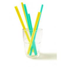 Silikids - GoSili - Pailles en silicone réutilisables de 3 longueurs - Paquet de 6 - Jaune et vert